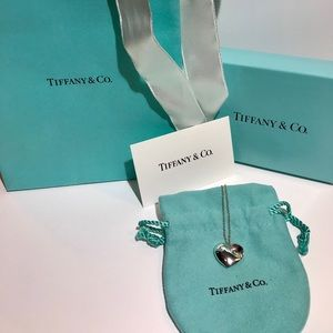 Tiffany & Co. Authentic Puffed Heart Necklace